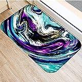 HLXX Stein Streifen Marmor Muster Anti-Rutsch Wildleder Teppich Fußmatte Fußmatte Outdoor Küche Wohnzimmer Bodenmatte Teppich A9 40x60cm