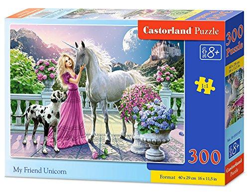 Castorland My Friend Unicorn 300 pcs Puzzle - Rompecabezas (Puzzle Rompecabezas, Hada, Niños, Niño/niña, 8 año(s), Interior)