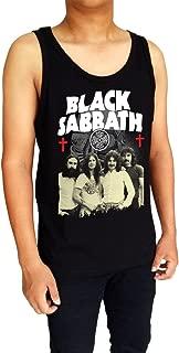 Black Sabbath Music Band Logo Ozzy Mask Demon Cross Mens Tank Top