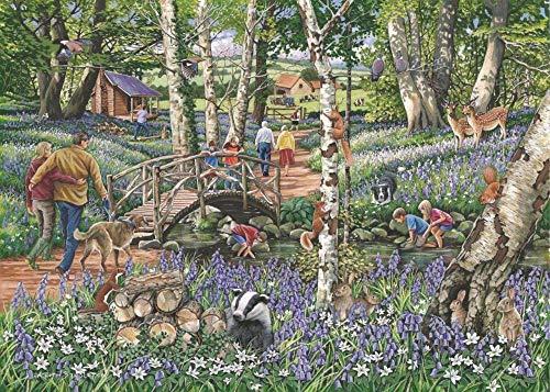 """Fwsaot Jigsaw Puzzle Puzzles Rompecabezas De 1000 Piezas - Encuentra Las Diferencias No.18 - 'Walk In The Woods' """"Nuevo Febrero"""