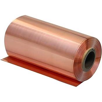 B/&T Metall Kupferblech 1,0 mm stark Qualit/ät nach DIN EN 1172 CUI-DHP-CW024A R240 halbhart SF-Cu 50 x 60 cm bis Gr/ö/ße 500 x 600 mm