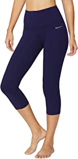 BALEAF Capris Yoga Women Leggings Workout High Waisted Pants Sport Tights Hidden Pocket
