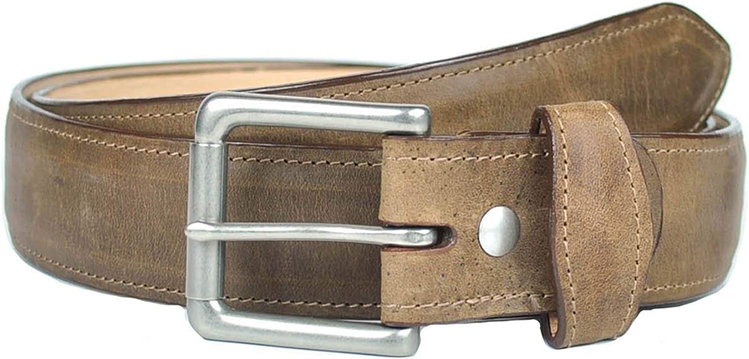 Gavel Attention brand Men's Handcrafted Full Gifts Grain Leather Genuine Belt Brown