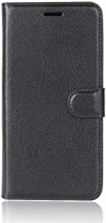 Flip Litchi Pattern PU Leather Wallet Card Slot Stand Cover Case for ONEPLUS 5T - Black