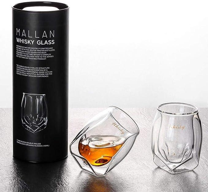 Zhengshi Doble acristalamiento diseño Ron Copa de Vino Whisky ...