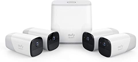 Eufy Cam Wire Free HD Security 4-Camera Set, (T8807CD3)