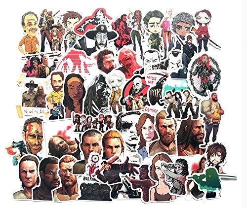 Pegatina American Drama Horror Walking Dead Graffiti Maleta Refrigerador Monopatín Impermeable Etiqueta 50 Unids