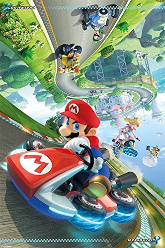 Nintendo - Mario Kart 8 Flip Games-Poster Luigi Yoshi Toad Wario 61x91,5 cm