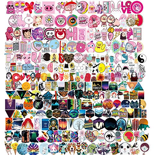 Aesthetic Stickers for Water Bottles Hydro flasks(400 Pack),Cute Waterproof Stickers for Teens and Girls,Cool and Trendy Vsco Stickers for Laptop,Phone,Skateboard,Luggage