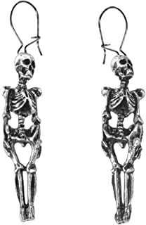 Hanging Skeleton Pair of Gothic Earrings by Alchemy Gothic