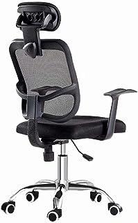 ZHANGXIAOFENG Silla ergonómica de Malla, Silla de Escritorio Negra, Silla de Oficina para computadora, reposacabezas Ajustable