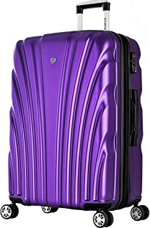 Olympia USA Vortex 29 Inch Expandable Hardside Checked Spinner Luggage (Purple)