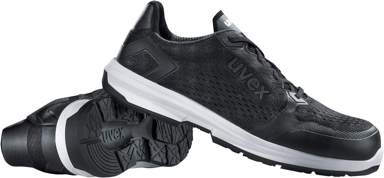 Uvex 1 Sport | Chaussures de Travail pour Femmes S1 SRC ESD | Baskets Légères de Sécurité avec Embout | Mesh | Noir Noir
