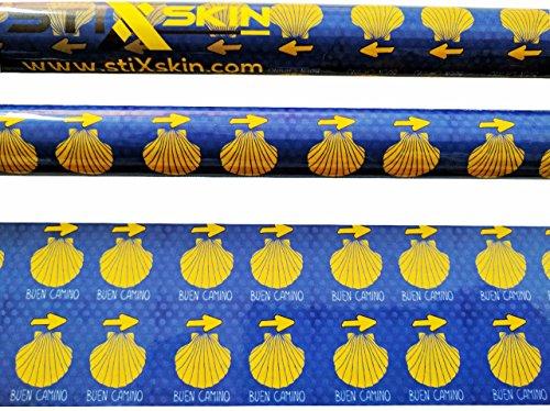 Stixskin, 2 décoratifs en vinyle Wraps pour marche nordique, randonnée, Trekking, ski et personnalisées, Aid bâton de marche | Leki, Exel, Gabel, Fizan, Swix |