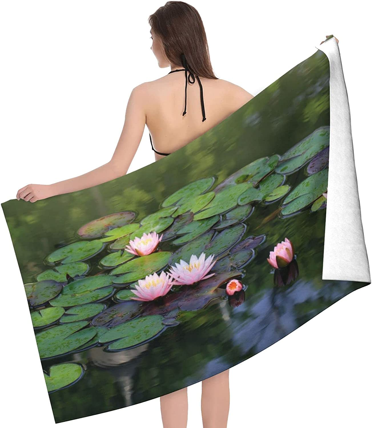 Beautiful Lotus Flower Print Adult - Towel Towels Beach Clearance SALE Limited time Los Angeles Mall Do
