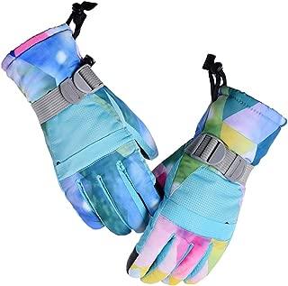 Janjunsi Family Ski Gloves, Winter Warmer Skiing Gloves Waterproof & Windproof Thermal Gloves for Skiing Snowboarding Shredding Snowballst