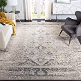 Safavieh Monaco Collection MNC209G Modern Abstract Grey and Multi Distressed Area Rug (9' x 12')