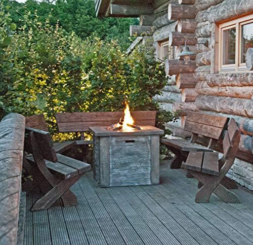Clifton Gasofen Large Stone Garten Gaskamin Heizpilz Feuerstelle Terrassenkamin Kamin