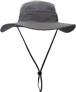 Men's Sun Hat UPF 50+ Wide Brim Bucket Hat Windproof Fishing Hats