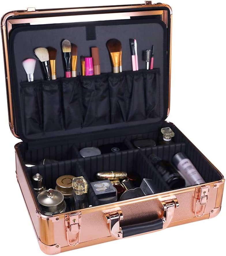 ! Super beauty product restock quality top! Cosmetic Train Cases Selling with Adjust Tri-Color Light Lock