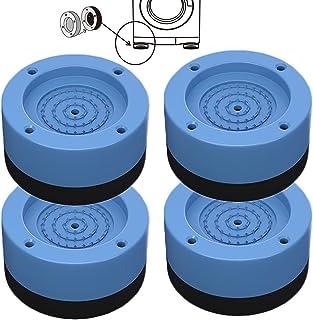 4 Pièces Tapis Anti-vibration pour Machine à Laver, Tampons Pieds en Caoutchouc Anti-Vibrations, pour Machine à Laver, Réf...