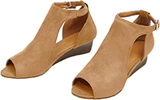 e4ca1ee7f3e Amazon.com: Open Toe - Ankle & Bootie / Boots: Clothing, Shoes & Jewelry