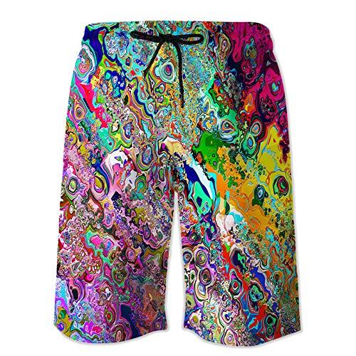 Pantalones de chándal Estampados en 3D de Secado rápido para Hombre Pantalones de Playa Finos con Correa de Verano Pantalones Casuales Ligeros y cómodos 4XL