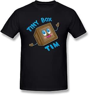 AnneLano Men's Tiny Box Tim T Shirt Black