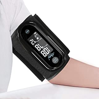 Blood Pressure Monitor Upper Arm with One Piece Design, Digital BP Machine for Home Use with Cuff Size 9-14 Inch, Portable Meter, Built-in Battery