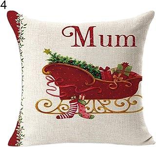 Capa de almofada de linho de Natal Heaven2017 para decoração de carro de sofá de casa de Natal estilo 4