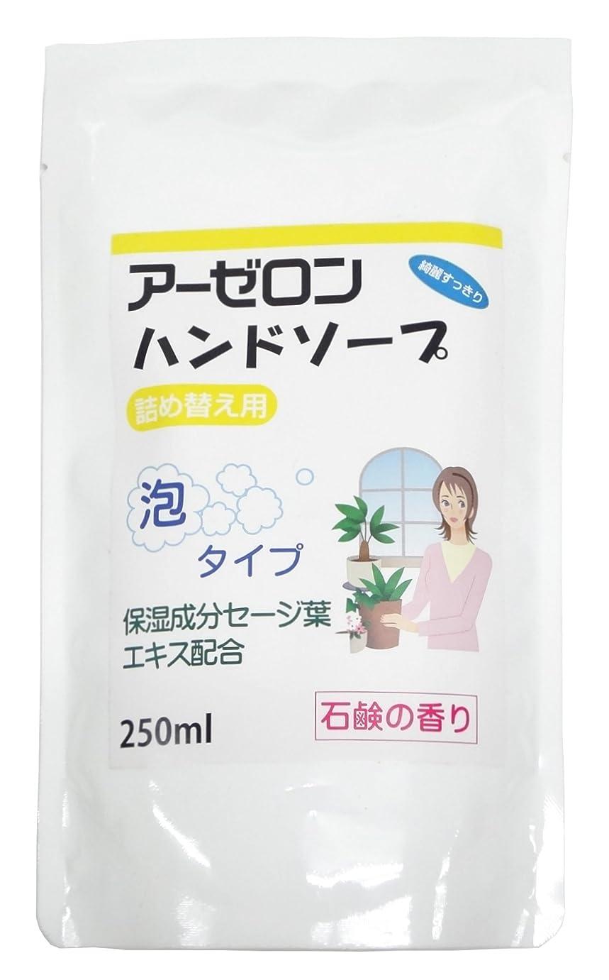 理論敵意学者アーゼロンハンドソープ 石鹸の香り(詰め替え用) 250ml