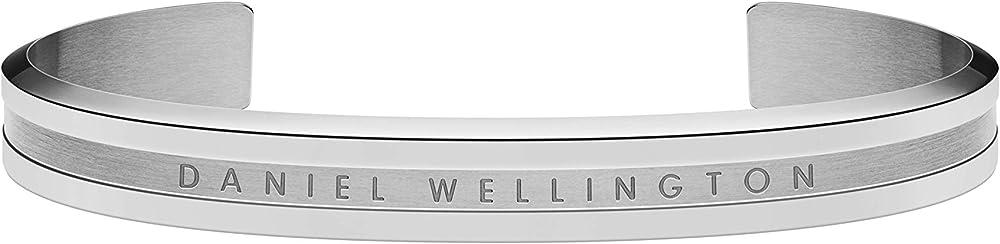 Daniel wellington, bracciale rigido da donna, in acciaio inossidabile con placcatura colore argento DW00400143