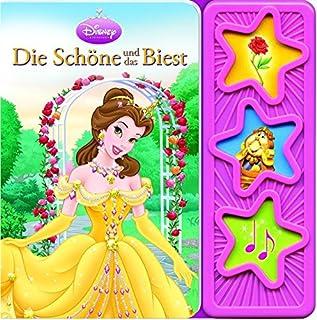 Die Schöne und das Biest: wattiertes Kinderbuch, 3-Button-Soundbuch, Disney-Pappbilderbuch mit 3 Geräuschen