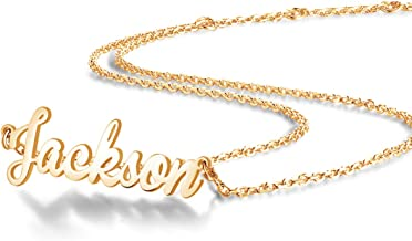 22k gold name necklace