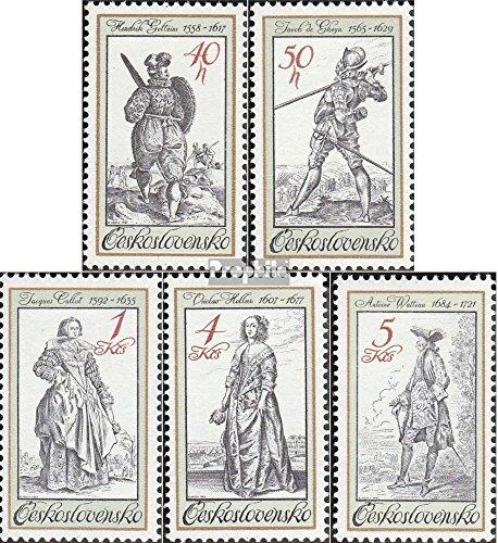 Tchécoslovaquie 2742-2746 (complète.Edition.) 1983 Costumes (Timbres pour Les collectionneurs)