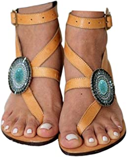 Women's Gladiator Sandals,Cross Tie Flat Sandals,Beach Sandals