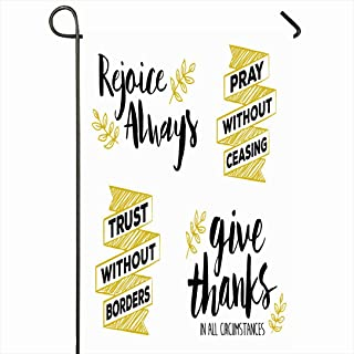 Ahawoso Outdoor Garden Flag 28x40 Inches Rejoice Always Pray Without Ceasing Give Collection Thanksgiving Graphic Encouraging Thanks All Happy Seasonal Home Decor Welcome House Yard Banner Sign Flags