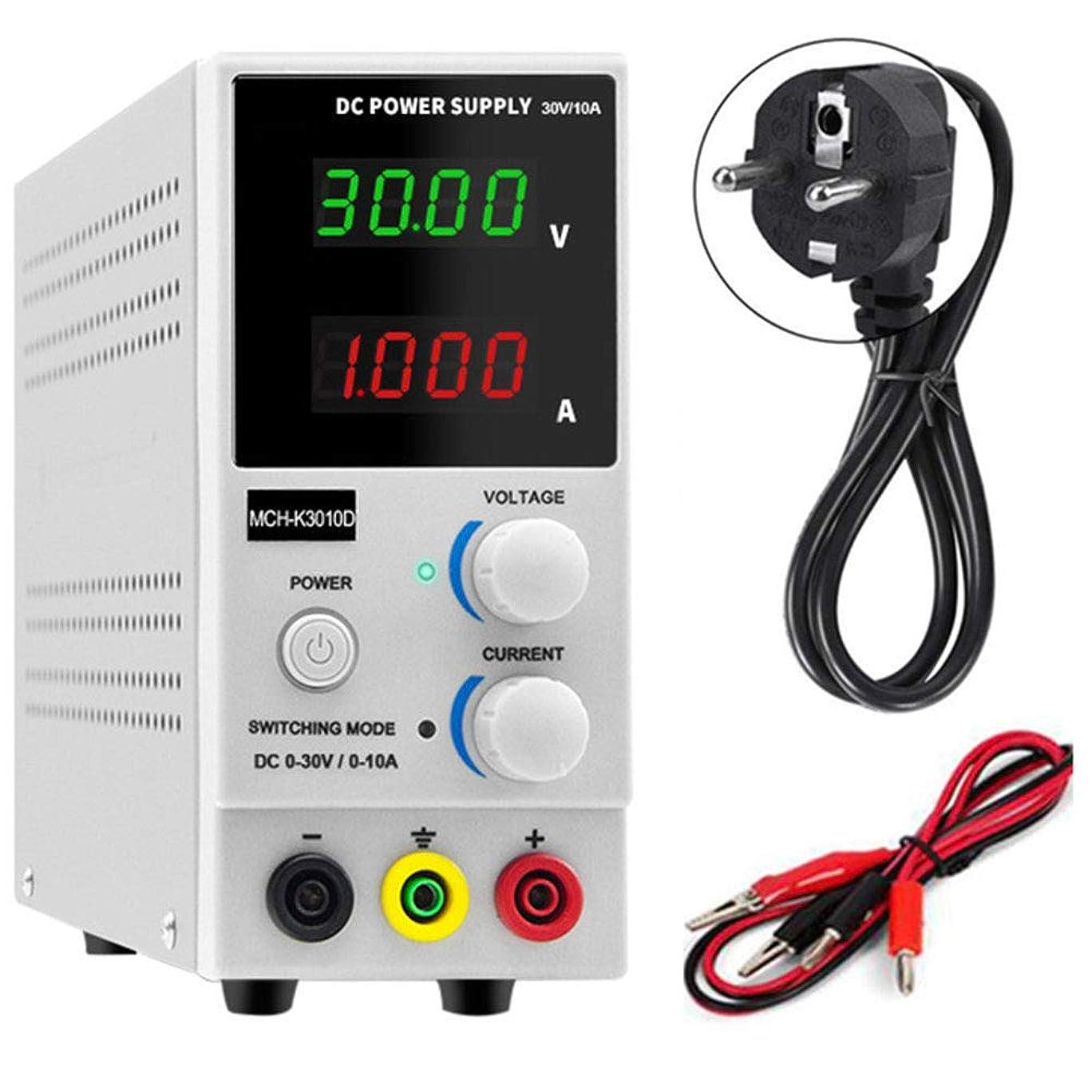 バングぬるいギャンブル実験室の可変DC電源、調節可能な実験室安定化電源0-30V / 0-10A LEDデジタルディスプレイ、調節可能なDC電源