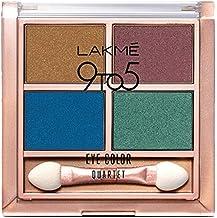 Lakme 9 to 5 Eye Color Quartet Eye Shadow, Royal Peacock, 7 g