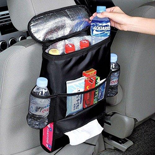 Auto Rücksitz Organizer Kühler Leichtes Aufbewahrungstasche mit Mehreren Taschen für Outdoor-Reise Erhaltung Wärme und Kühlendes Getränk