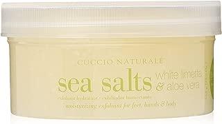Cuccio Sea Salt Scrub, White Limetta and Aloe Vera, 19.5 Ounce
