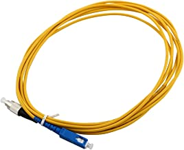uxcell 3 Meter 9.8 Ft Singlemode FC/PC to SC/PC Fiber Optic Patch Cord Jumper Cable
