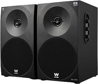 Woxter Dynamic Line 410 BT – Altavoces estéreo 2.0 150W de potencia,BLUETOOTH, Madera, Woofer de 4 pulgadas, 2 Tweeter, 3.5 mm, RCA, Control volumen, agudos, graves, Bookself Speakers, color Negro