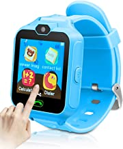 YIHOO Kids Smart Phone Watch for Girls Boys Children 2 Way Call 1.4'' HD Touch Screen Camera Game Digital Gizmo Learning Cellphone Wrist Watch for Birthday Holiday Cool Toys Smartwatches Gifts (Blue)