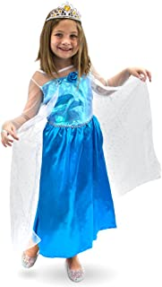 Ice Princess Children's Halloween Costume - Frozen Winter Dress (Medium)