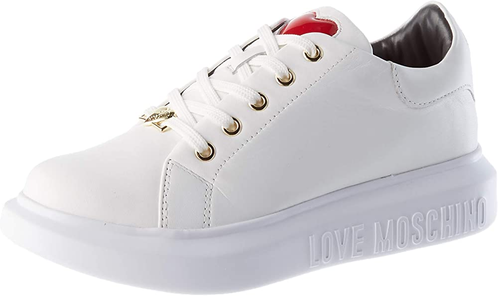 Love moschino,scarpe sneakers da donna, in pelle di vitello JA15494G0BJA010040