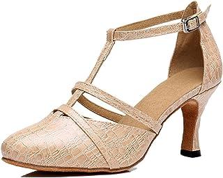 Women's Classic T-Strap Mid Heel Synthetic Tango Ballroom...