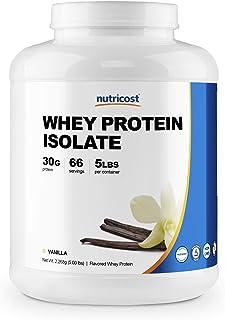 Nutricost Whey Protein Isolate Powder (Vanilla) 5LBS