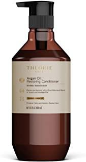 Acondicionador de restauración de aceite de argán Theorie con argán, moringa, semillas de uva y aceite de salvia para cabello normal o gravemente dañado