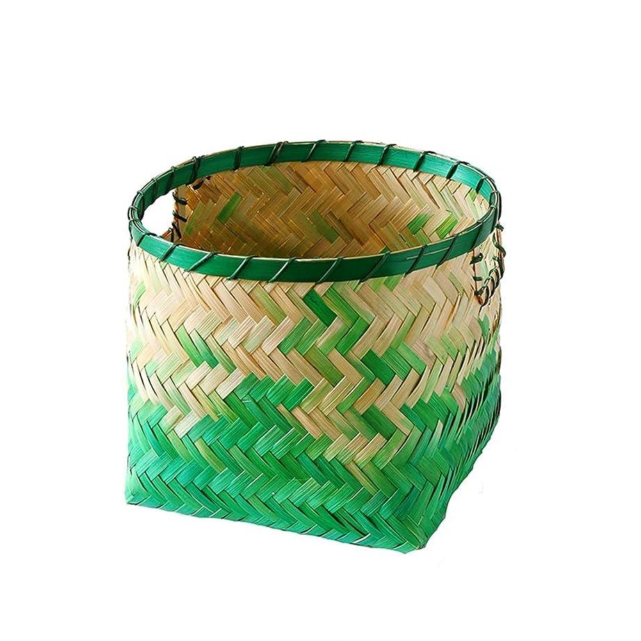 セラーマラウイ明らか手作りの竹収納バスケット花や雑貨などを入れるためのおもちゃ収納バスケット SMMRB (サイズ さいず : B)